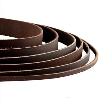 wholesale dealer 5b9c9 4070d Auroris - Lederband flach Dunkelbraun Breite wählbar  2/3/4/5/8/10/15/20/25/30 mm - Variante: Breite 20mm / Länge 1m