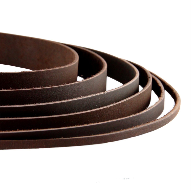 graubraun 1 m Lederband 3,5 mm