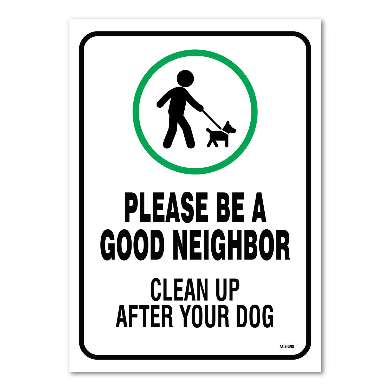 Amazon.com: Letrero de limpieza después de su perro, ser un ...