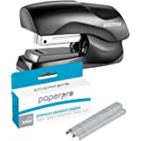 40 Sheet Capacity Black Stapler with Premium Staples for Jam-Free Stapling (0.25 Inch, 5000 in Box)