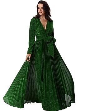 Adyce mujeres Verde bamdage Navidad vestido maxi maternidad vestido largo para fiesta de invierno s