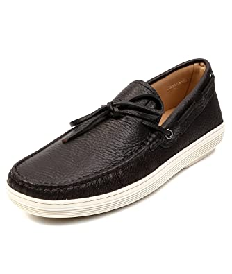 Tod's Men's Pebbled Real Leather Ribbon Accent Loafers