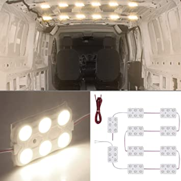 SUPAREE Caravan Lights Dimmable Led Lights Bar Lamp With Rotary Switch Control DC 12V 9.6W Motorhome Lighting for Car Camper Caravan Boat Motorhome