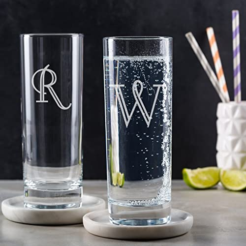 Amazon Personalized Highball Glass With Initial
