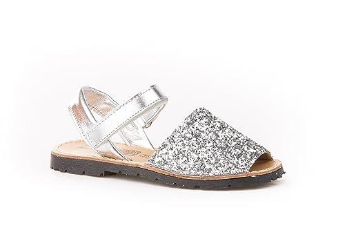 9c73fc5d07a Sandalias Menorquinas para Niñas en Glitter Todo Piel mod203. Calzado  infantil Made in Spain