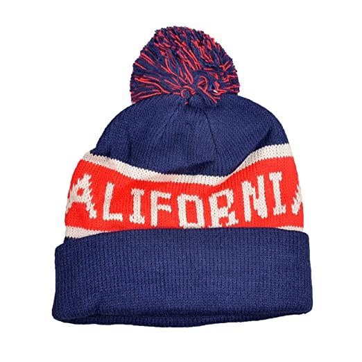 Image Unavailable. Image not available for. Color  California Navy Cuff Pom  Pom Beanie ... 00e42d2bd98