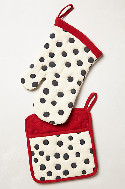 Polka Dotted Potholder - anthropologie.com