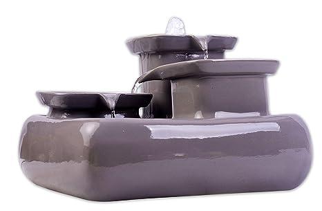 Miaustore Fuente de Agua de cerámica para Gatos 8 áreas para Beber, 3.4 litros,