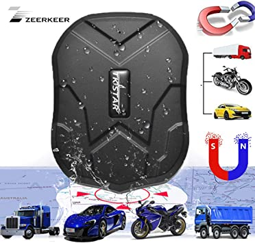 905 Car GPS Tracker TKSTAR Hidden GPS Tracker for Vehicles Real-time GPS Tracking Anti-Theft Locator for Car//Motorcycle//Trucks//Bike//Fleet//Boat 5000mAH