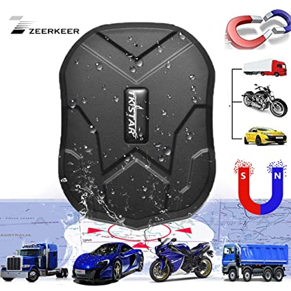 ZEERKEER Hidden Vehicles GPS Tracker,90 Days Standby Real-time Tracking Anti-theft GPS Locator with Electric Fence Alarm on Free APP for ...