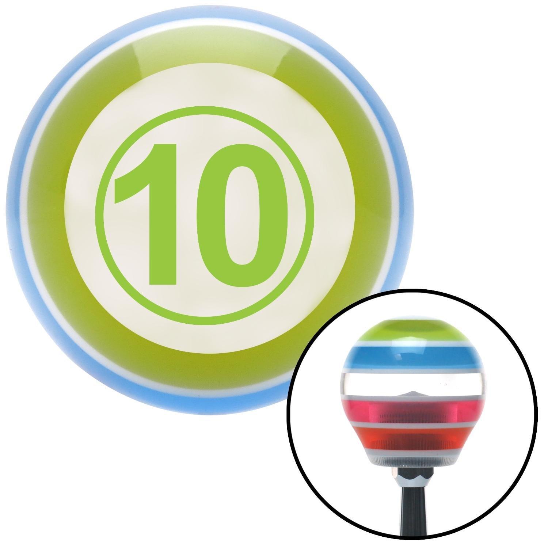 Green Ball #10 American Shifter 131253 Stripe Shift Knob with M16 x 1.5 Insert