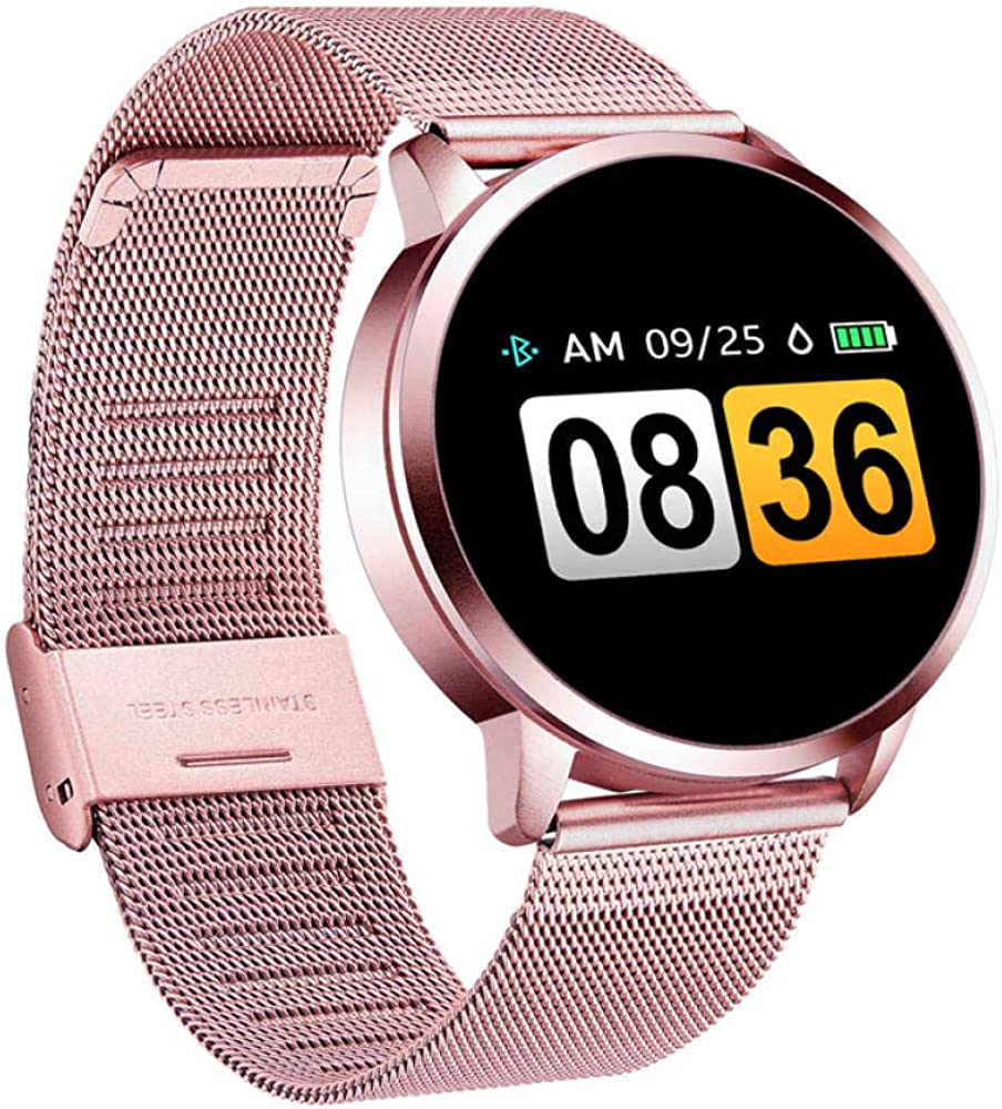 Relojes Inteligentes Q8 Plus Rose Smart Reloj Color Pantalla ...
