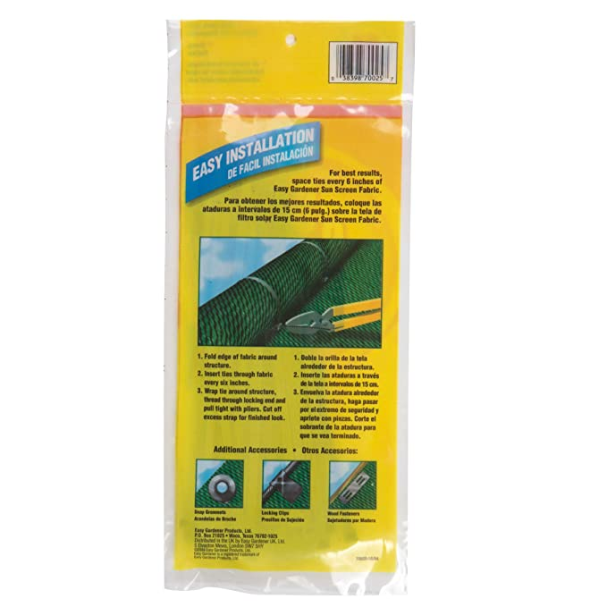 Amazon.com : Easy Gardener 70025 Locking Ties Sun Screen Accessory, 1 Unit : Outdoor And Patio Furniture : Garden & Outdoor