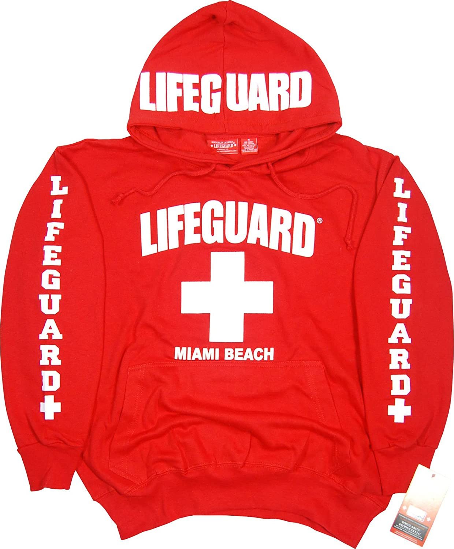 6eb56cd72a0 Amazon.com  Lifeguard Hoodie Kids Life Guard Sweatshirt Red  Clothing