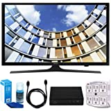 "Samsung UN50M5300 Flat 50"" 1080p LED SmartTV (2017 Model) w/ Tuner Bundle Includes, HD Digital TV Tuner, SurgePro 6-Outlet Surge Adapter w/ Night Light, 6ft. HDMI Cable & Screen Cleaner For LED TVs"