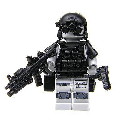 Battle Brick Custom Army Special Forces Heavy Assault Commando (SKU25) Custom Minifigure: Toys & Games