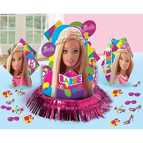 Amazon.com: Amscan Barbie Sparkle Table Decorating Kit ...