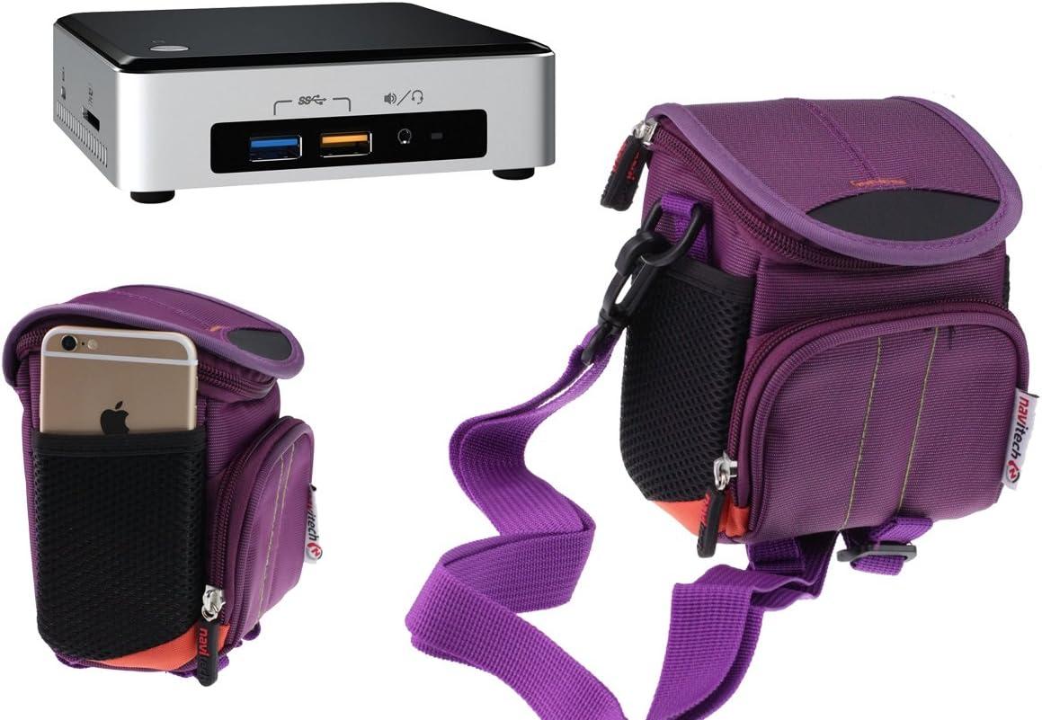 Navitech Lila Wasser Beständiges Mini Desktop Pc Computer Zubehör
