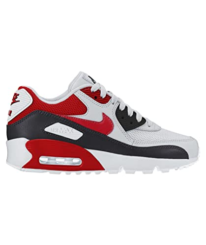 hot sale online f4e47 acfed Nike Air Max 90 mesh GS 833418 107 white university red black pointure 35 1