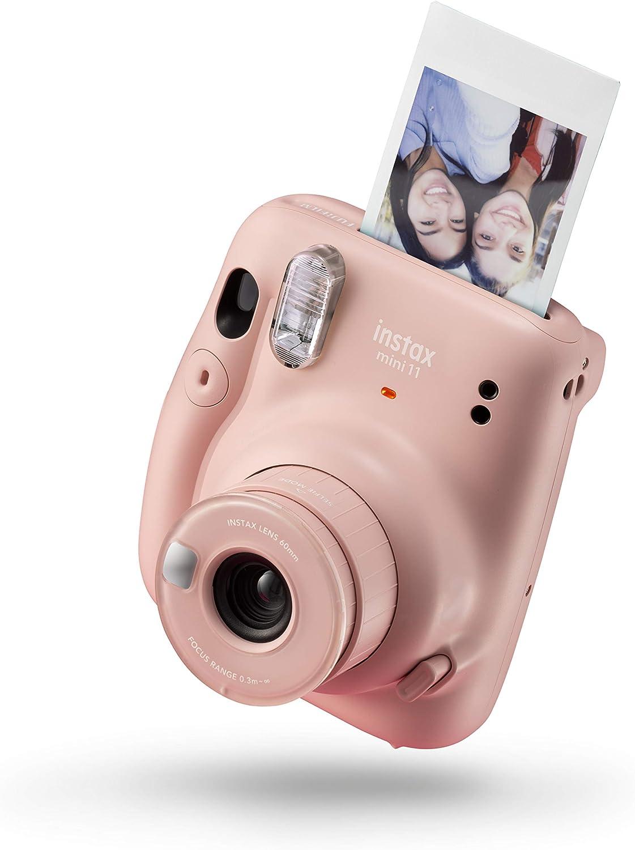 Instax Mini 11 - Cámara instantánea, Blush Pink + Fujifilm Instax Mini película, Pack of 5 x 10 Hojas (50 Hojas): Amazon.es: Electrónica