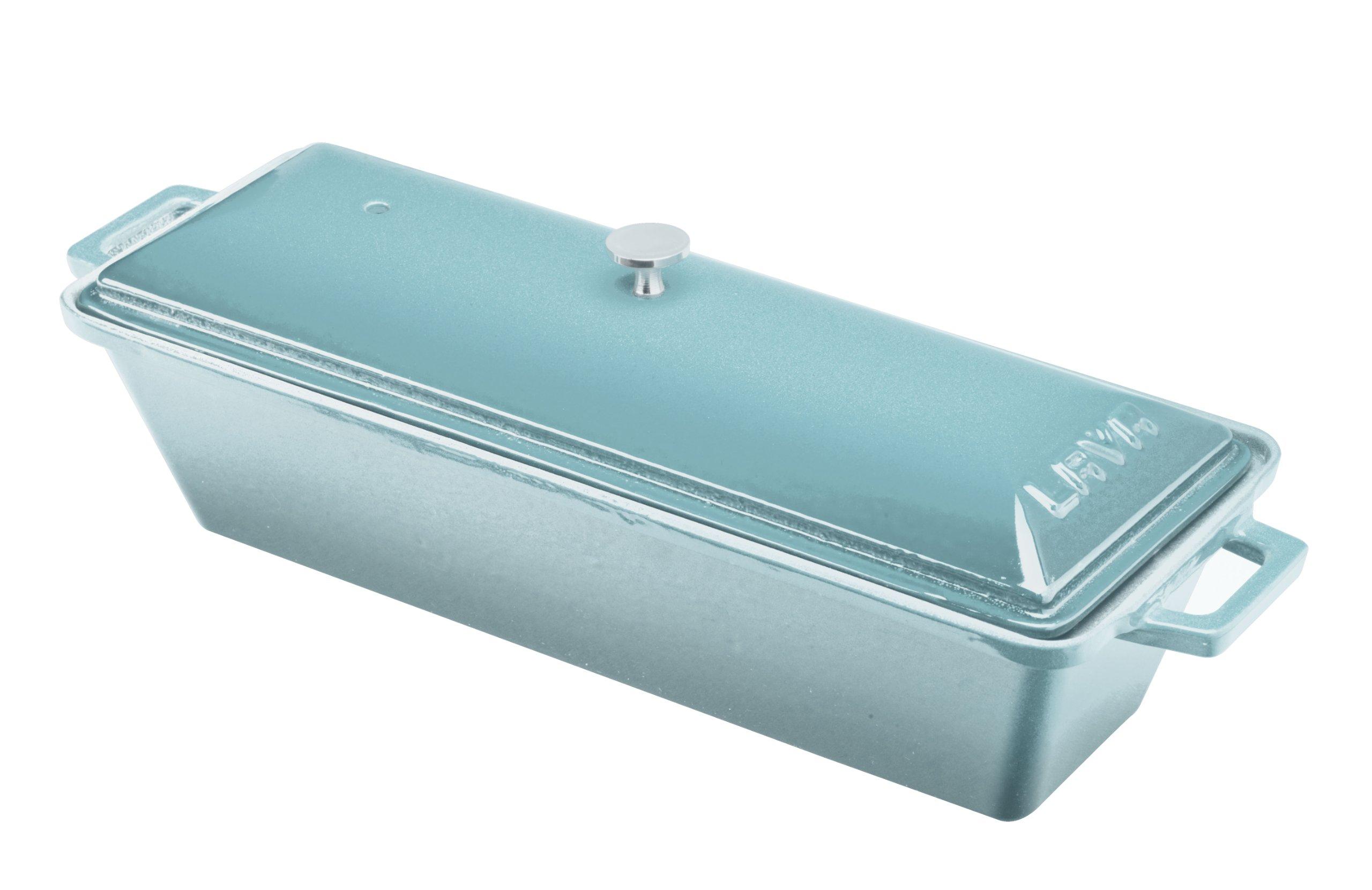 Lava Signature Enameled Cast-Iron Bread/Terrine Pot - 3 x 10 inch, Blue Opal