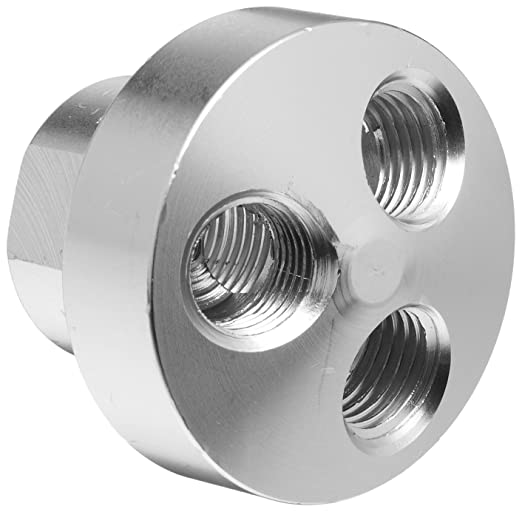 Aluminum air manifold 6 outlet 1//8 NPT outlet 1//4 NPT inlet