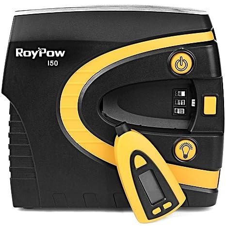 Roypow I50 Inflador de Neumáticos Compresor de Aire Digital 150PSI, Alta Velocidad 3 Minutos,