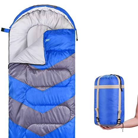 Outdoor Camping Adult Sleeping Bag Waterproof Keep Warm 3-4 Seasons Spring Summer Sleeping Bag For Camping Travel *75cm 190+25