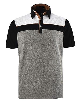 PIPIHU Polo Hombre Manga Corta Slim Fit Camiseta Camisas Deporte T ...