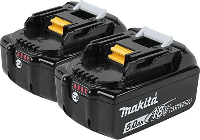 Amazon.com: Makita BL1850B2DC2 5.0 Ah 18V LXT Batería ...