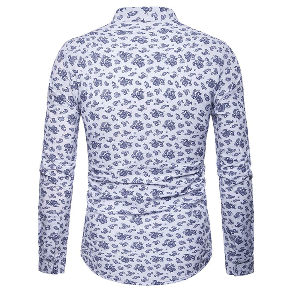 Sagton Mens Slim Fit Business Casual Long Sleeves Button Down Dress Shirts