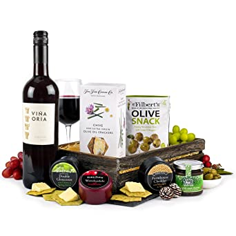 Red Wine & Cheese Hamper - Spanish Red, 75cl, 3 x 100g Cheese ...