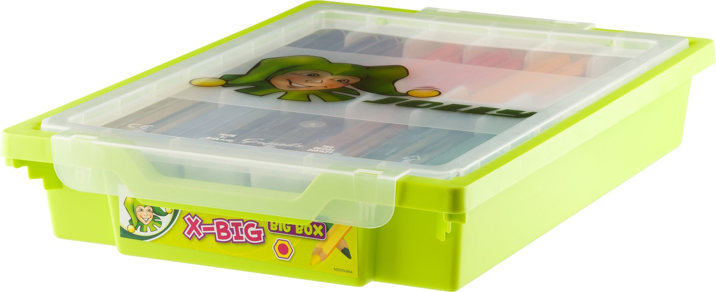 Jolly X-Big Premium Jumbo Colored Pencils with Stackable Storage Box; 180 Pcs (15 each of 12 secondary colors), Perfect for Group Projects and Classrooms, Special Needs, Art Therapy, Pre-School by Jolly (Image #2)