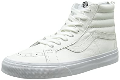 vans sk8 high white leather