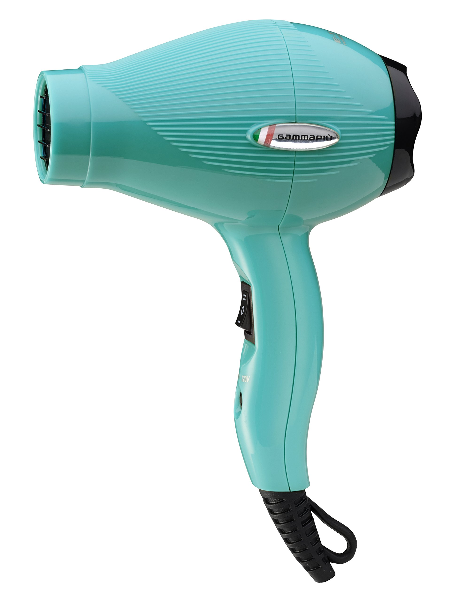 Gammapiu ETC Travel Hair Dryer - Professional Hair Dryer for Travel - Duel Voltage US and European Hair Dryer - Turquoise