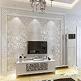 QIHANG Sliver Gray Victorian Damask Embossed Textured Wallpaper 0.53m10m=5.3㎡