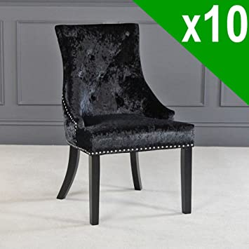 Lujo Silla De Terciopelo Back Furniture Market Scoop The Negro xBCWrdoe