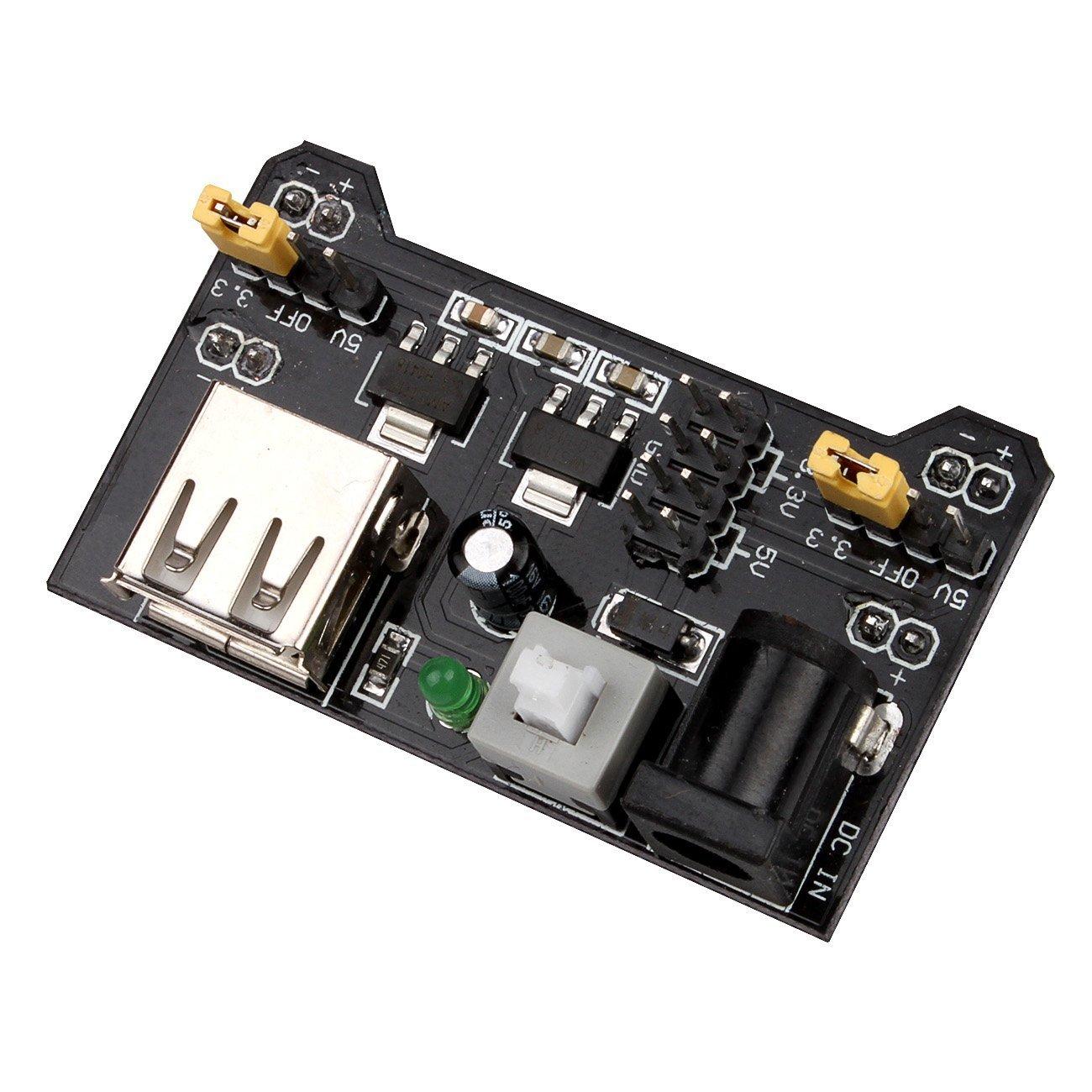 Amazon.com: JBtek Breadboard Power Supply Module 3.3V/5V For Arduino ...