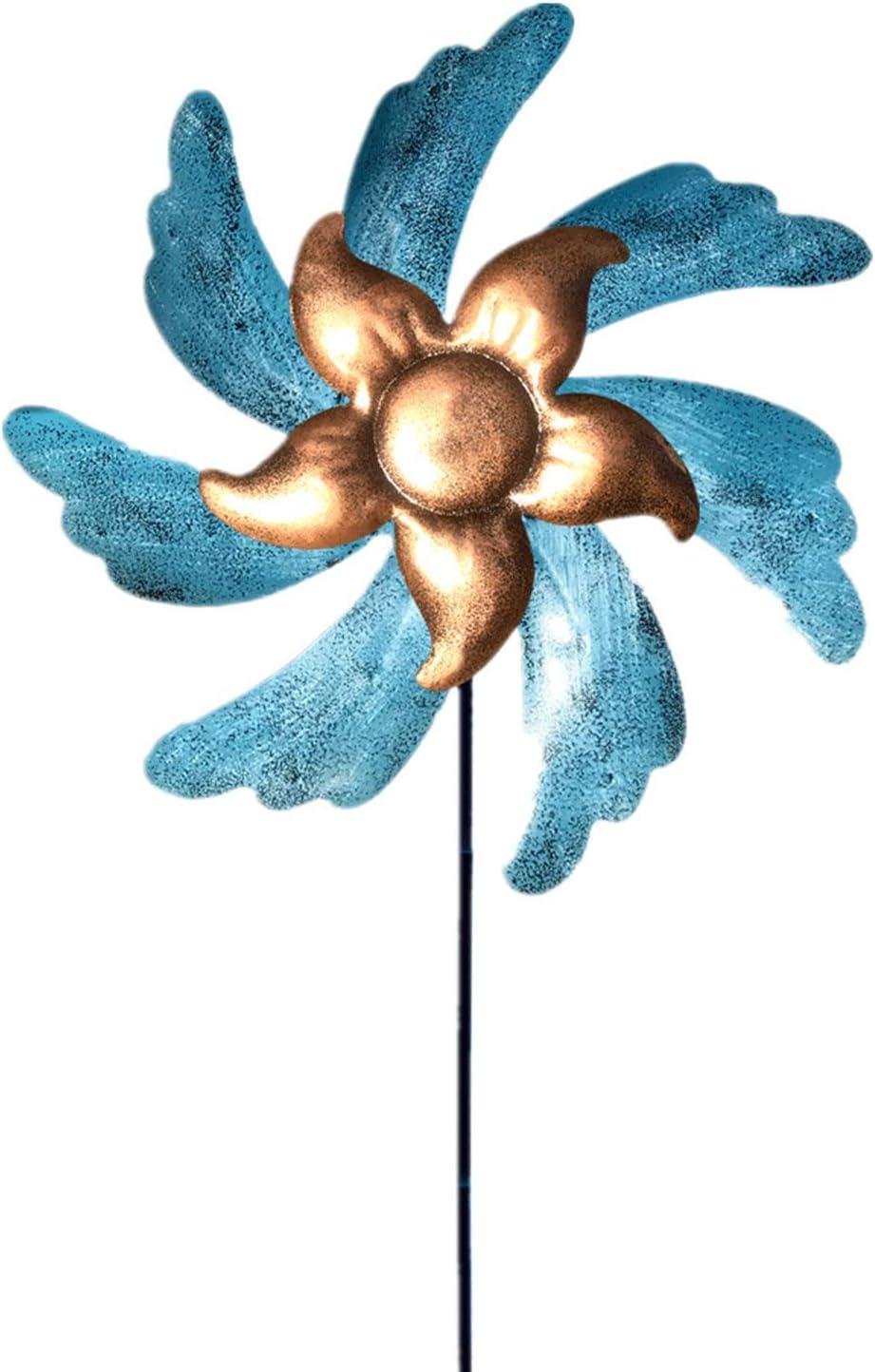Wind Spinner Outdoor Metal Yard Art Decorations, Metal Wind Sculpture for Lawn & Garden Decor Outdoor