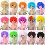 ボンバー アフロ ウィッグ ネット 収納バッグ セット /パーティー コスプレ 仮装 衣装 ハロウィン コスチューム (ベネディモール) Bene di mall (フルセット オレンジ)