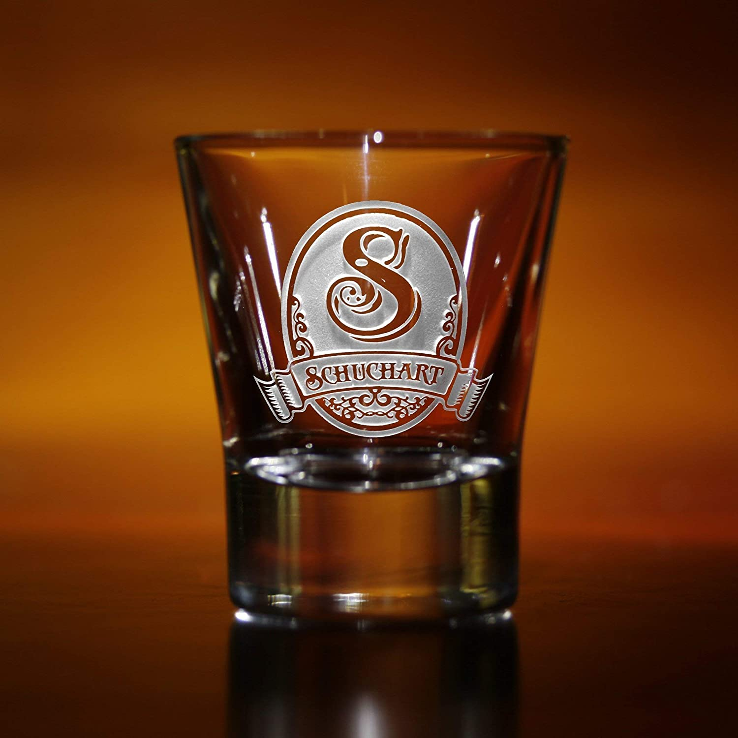 Personalized shot glass gift idea for men