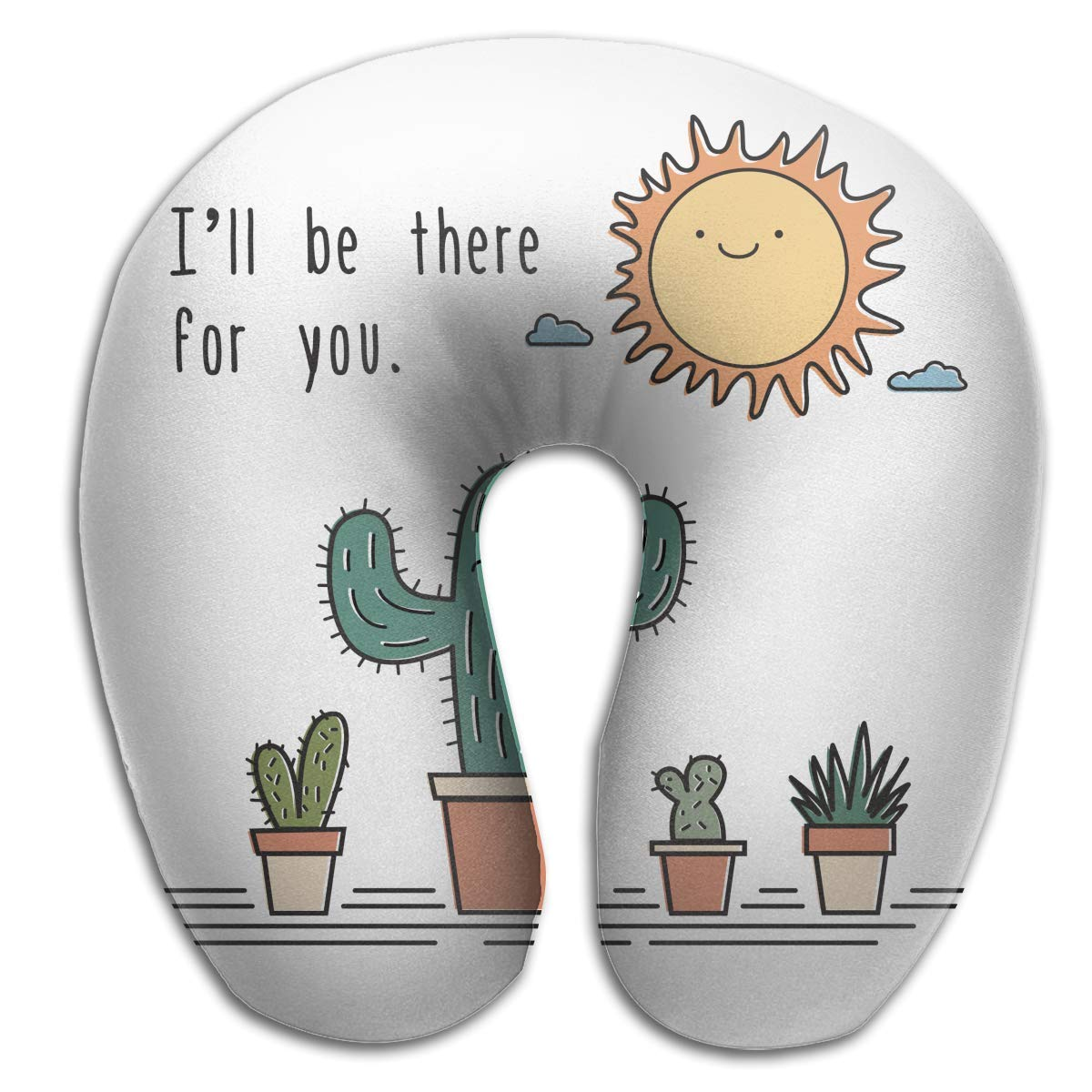 U-Shaped Neck Pillow I\'ll Be There for You Pillows Soft Portable for Travel Reading Sleeping