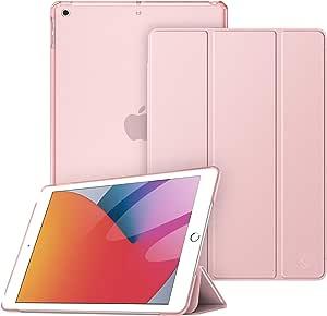 """Fintie Funda para iPad 10.2"""" 2020/2019 - Trasera Transparente Mate Carcasa Ligera con Función de Soporte y Auto-Reposo/Activación para iPad 8/7.ª Generación (Oro Rosa)"""