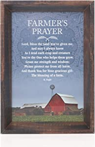 Dicksons Farmers Prayer Rich Finish Wood Tabletop Shadow Box Photo Frame