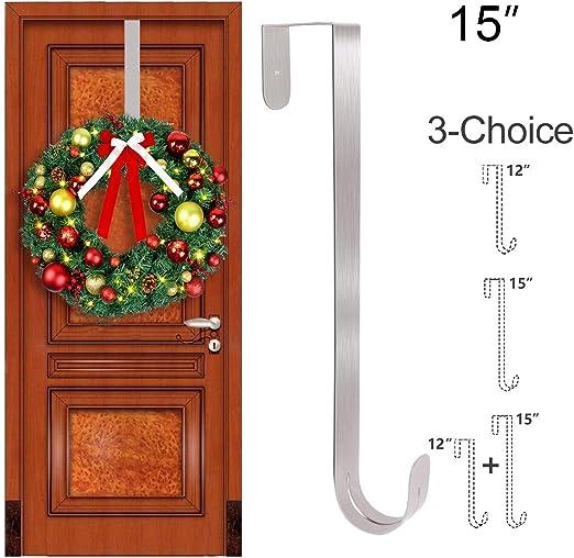 Wreath Hooks Door Hanger for Bathroom Bedroom Towels Metal Home Display Holiday Front Door Special Elegant Unique Design Coats A Premium Sturdy Metal