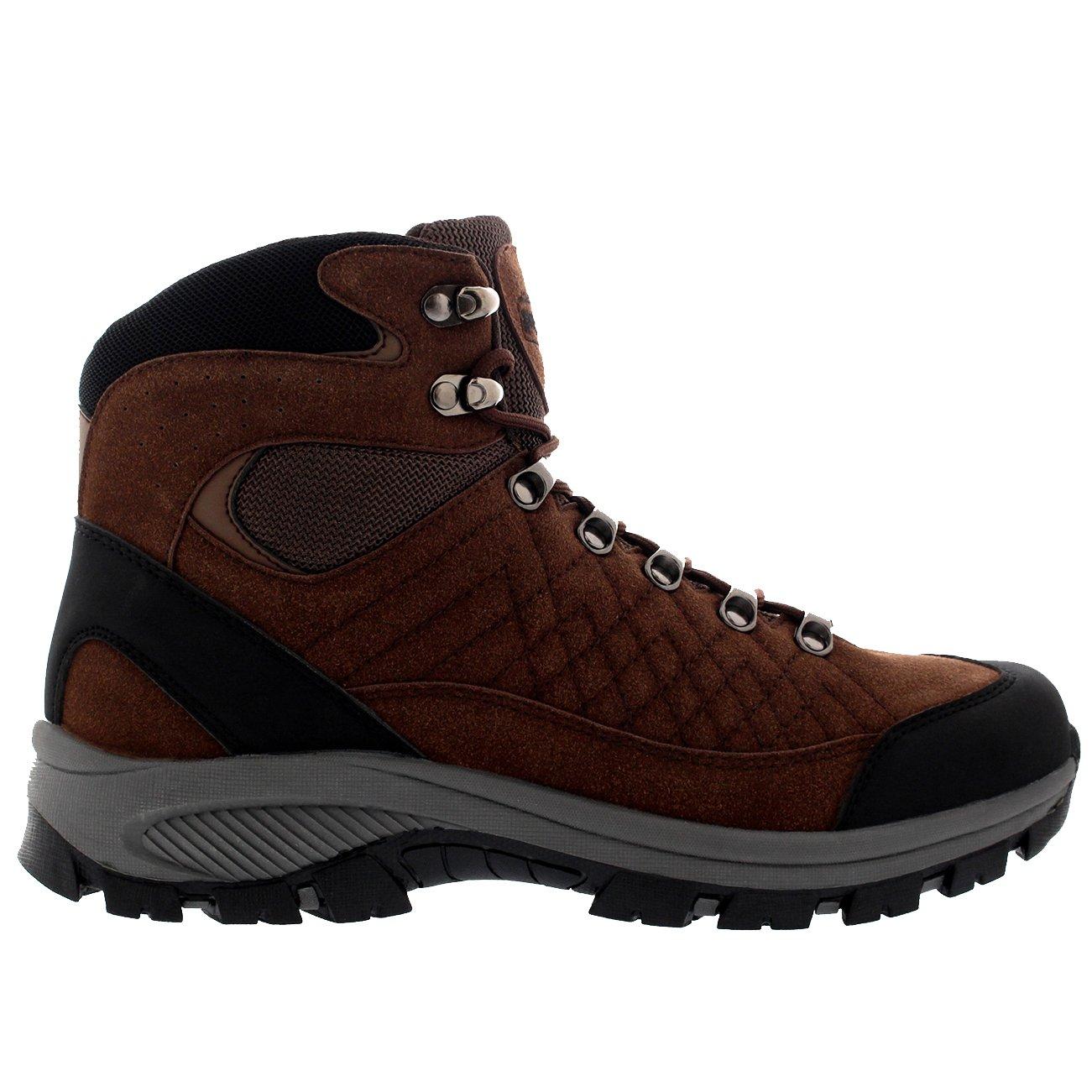 Polar Hombre Excursionismo Impermeable Para Caminar Invierno Botines - Marrón - UK10/EU44 - WT0015: Amazon.es: Zapatos y complementos