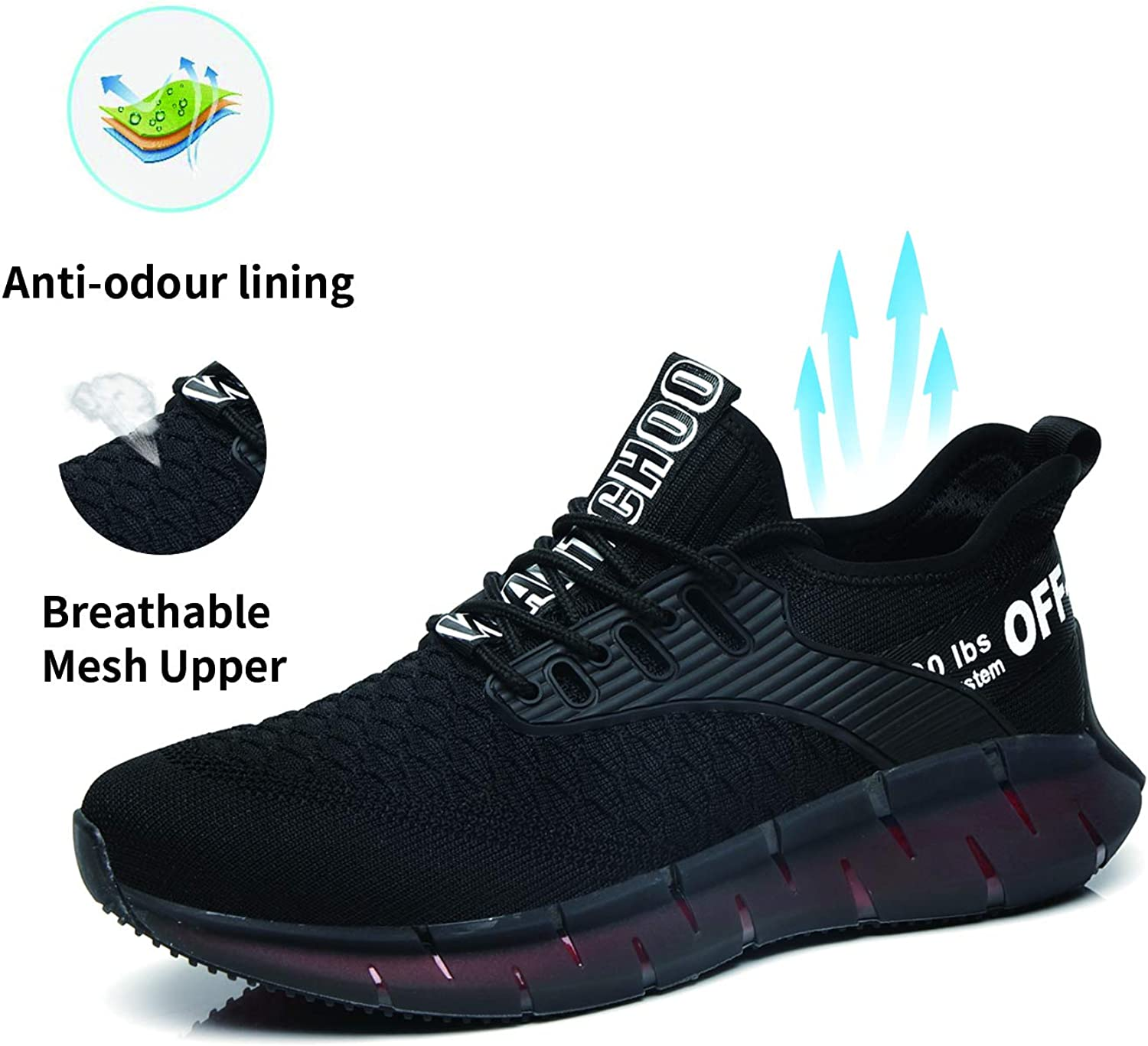 OUYINIAO Steel Toe Non-Slip Shoes Men Indestructible Lightweight Breathable Work Safety Shoes Industrial Construction Shoes