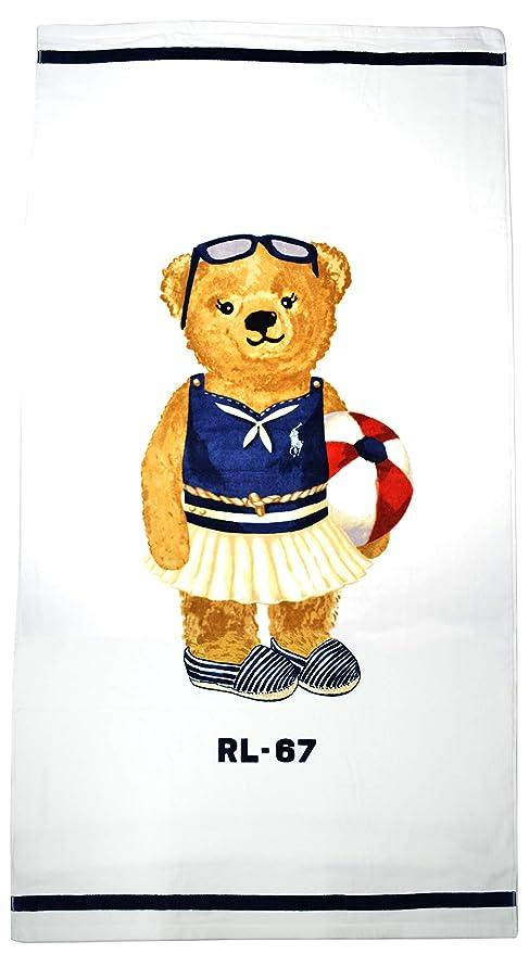 Ralph Lauren Polo Polo Bear - Toalla de Playa, Color Azul Marino ...