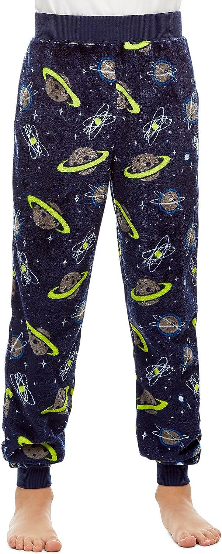 Jellifish Kids Boys Pajama Bottoms Cozy Flannel Fleece Jogger Style PJ Pants