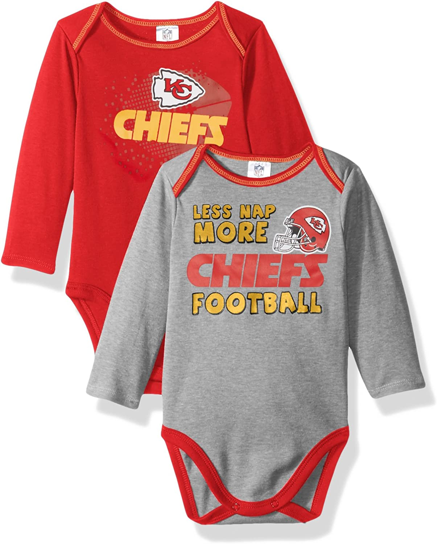 NFL Children Boys 2 Pack Long Sleeve Bodysuit Red 18 Months